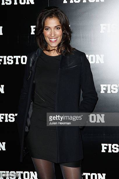 Laurie Cholewa attends 'Fiston' Paris Premiere at Le Grand Rex on February 10 2014 in Paris France