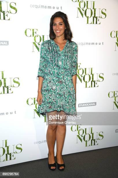 Laurie Cholewa attends the 'Ce Qui Nous Lie' Paris Premiere at Cinema UGC Normandie on June 12 2017 in Paris France