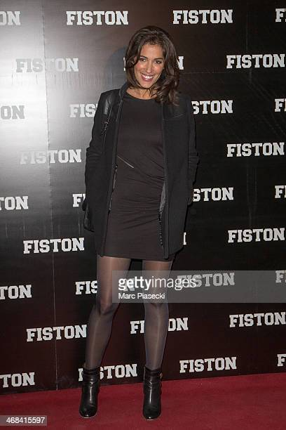 Laurie Cholewa attends the 'Fiston' Paris Premiere at Le Grand Rex on February 10 2014 in Paris France