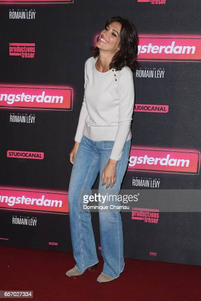 Laurie Cholewa attends the Gangsterdam Paris Premiere at Le Grand Rex on March 23 2017 i