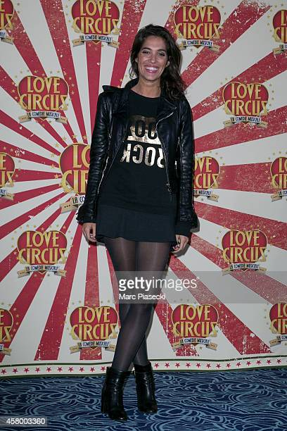 Laurie Cholewa attends the 'Love Circus The Musical' at Folies Bergeres on October 28 2014 in Paris France