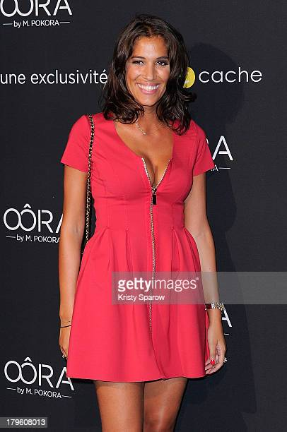 Laurie Cholewa attends the photocall for 'OORA' Womenswear Collection designed by French singer Matt Pokora at Pavillon Gabriel on September 5 2013...