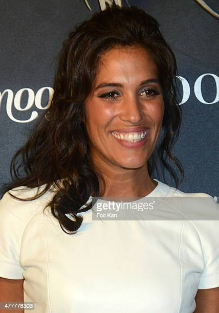 Laurie Cholewa from Unissons nos voix attend Les Globes de Cristal 2014 Awards Ceremony at Le Lido on March 10 2014 in Paris France