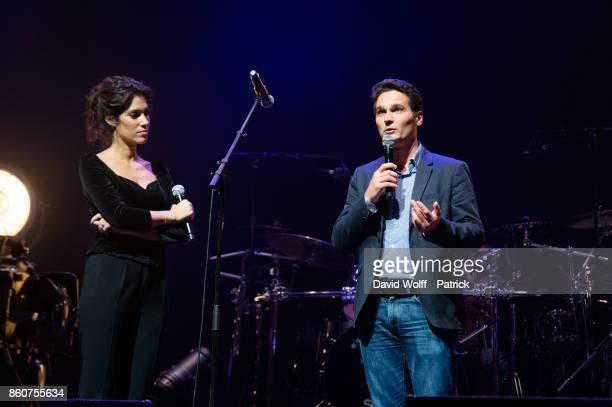 Laurie Cholewa host Leurs Voix pour l' Espoir at L'Olympia on October 12 2017 in Paris France