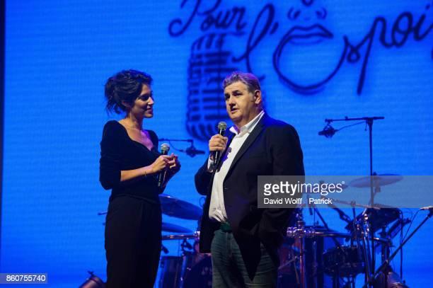 Laurie Cholewa hosts Leurs Voix pour l' Espoir at L'Olympia on October 12 2017 in Paris France