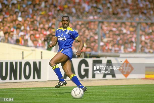 Laurie Cunningham of Wimbledon in action during the FA Cup final against Liverpool at Wembley Stadium in London Wimbledon won the match 10 Mandatory...