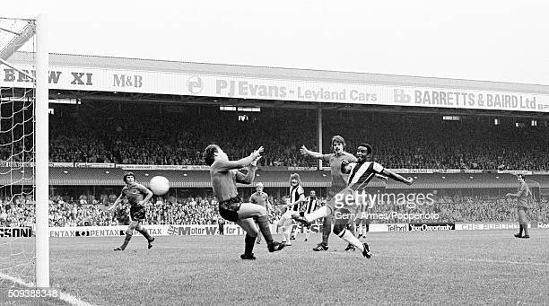 Laurie Cunningham scores for West Bromwich Albion during their First Division match against Bolton Wanderers at the Hawthorns in West Bromwich 26th...