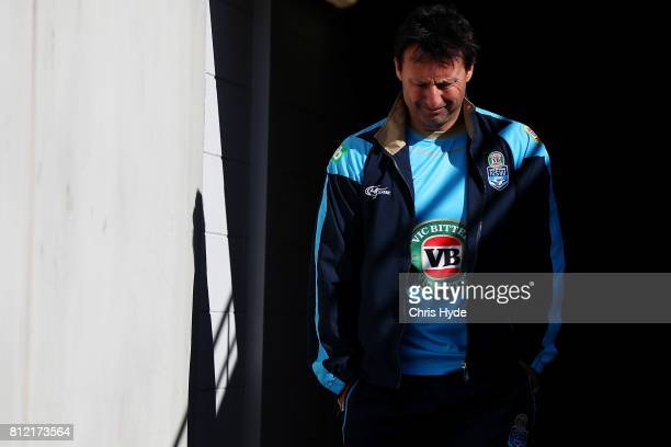 Laurie Daley looks on during the New South Wales Blues State of Origin training session at Cbus Super Stadium on July 11 2017 in Gold Coast Australia