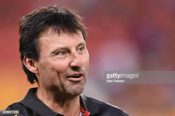 Laurie Daley of the Indigenous All Stars looks on after the NRL match between the Indigenous AllStars and the World AllStars at Suncorp Stadium on...