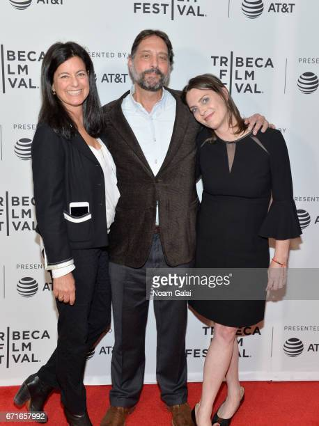 Laurie David Dr Samuel K Wasser and Kate Brooks attend 'The Last Animals' Premiere during 2017 Tribeca Film Festival at Cinepolis Chelsea on April 22...