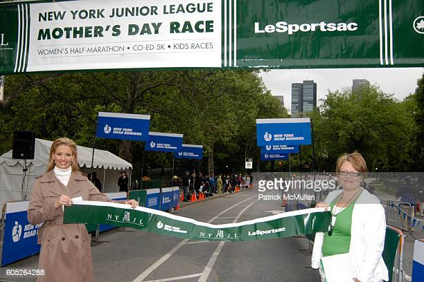 Laurie Dhue and Cynthia Cathcart attend THE NEW YORK JUNIOR LEAGUE Mother's Day Race to Erase Domestic Violence at Central Park on May 14 2006 in New...