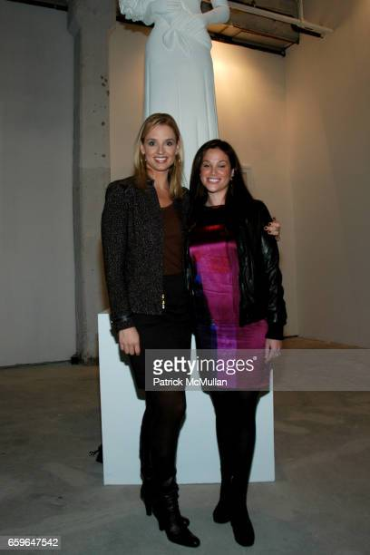 Laurie Dhue and Erica Rivera attend POWER AND BURDEN OF BEAUTY By RACHEL HOVNANIAN Panel Discussion at 520 W 20th Street on October 29 2009 in New...