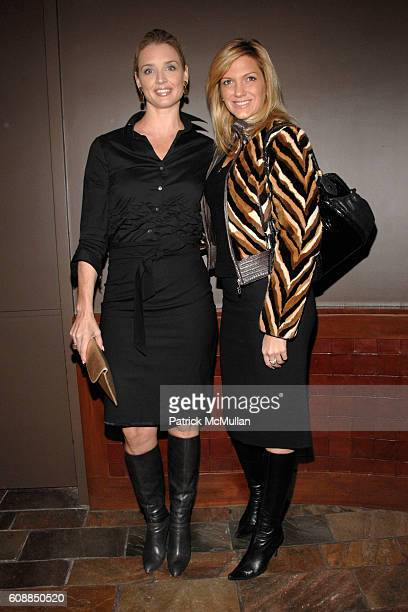 Laurie Dhue and Kelli Delaney attend WENDI MURDOCH Hosts a Screening of THINKFILM's NANKING at Tribeca Grand on October 29 2007 in New York City