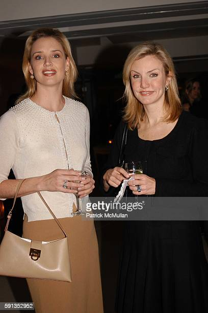 Laurie Dhue and Page Hopkins attend Elie Tahari Fall 2005 Open House at Elie Tahari Showroom on February 9 2005 in New York