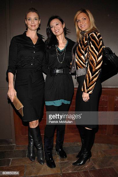 Laurie Dhue Wendi Murdoch and Kelli Delaney attend WENDI MURDOCH Hosts a Screening of THINKFILM's NANKING at Tribeca Grand on October 29 2007 in New...