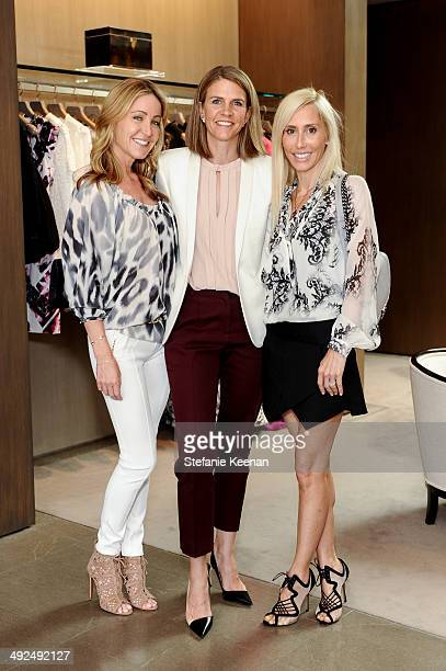 Laurie Felthimer Colleen Bell and Alexandra Von Furstenberg attend Monique Lhuillier Pre Fall Lunch on May 20 2014 in Los Angeles California
