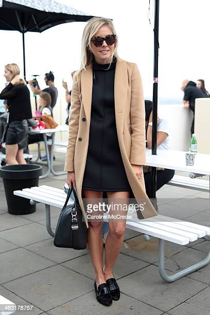 Laurie Ferraro attends MercedesBenz Fashion Week Australia 2014 at Bondi Icebergs Dining Room on April 7 2014 in Sydney Australia