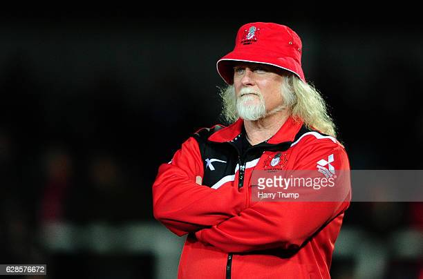 Laurie Fisher Head Coach of Gloucester Rugby during the European Rugby Challenge Cup match between Gloucester Rugby and La Rochelle at Kingsholm...