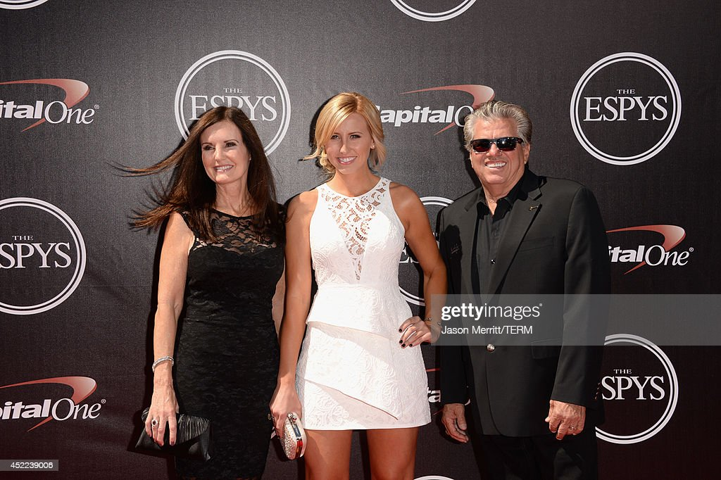 Laurie Force, <a gi-track='captionPersonalityLinkClicked' href=/galleries/search?phrase=Courtney+Force&family=editorial&specificpeople=8957288 ng-click='$event.stopPropagation()'>Courtney Force</a> and <a gi-track='captionPersonalityLinkClicked' href=/galleries/search?phrase=John+Force&family=editorial&specificpeople=3908651 ng-click='$event.stopPropagation()'>John Force</a> attend The 2014 ESPYS at Nokia Theatre L.A. Live on July 16, 2014 in Los Angeles, California.