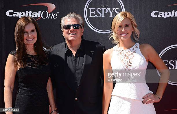 Laurie Force John Force and Courtney Force attend the 2014 ESPY Awards at Nokia Theatre LA Live on July 16 2014 in Los Angeles California