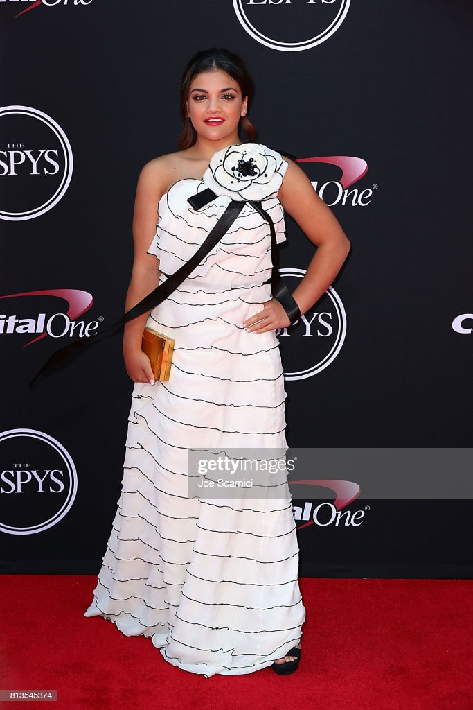 Laurie Hernandez arrives at the 2017 ESPYS at Microsoft Theater on July 12, 2017 in Los Angeles, California.