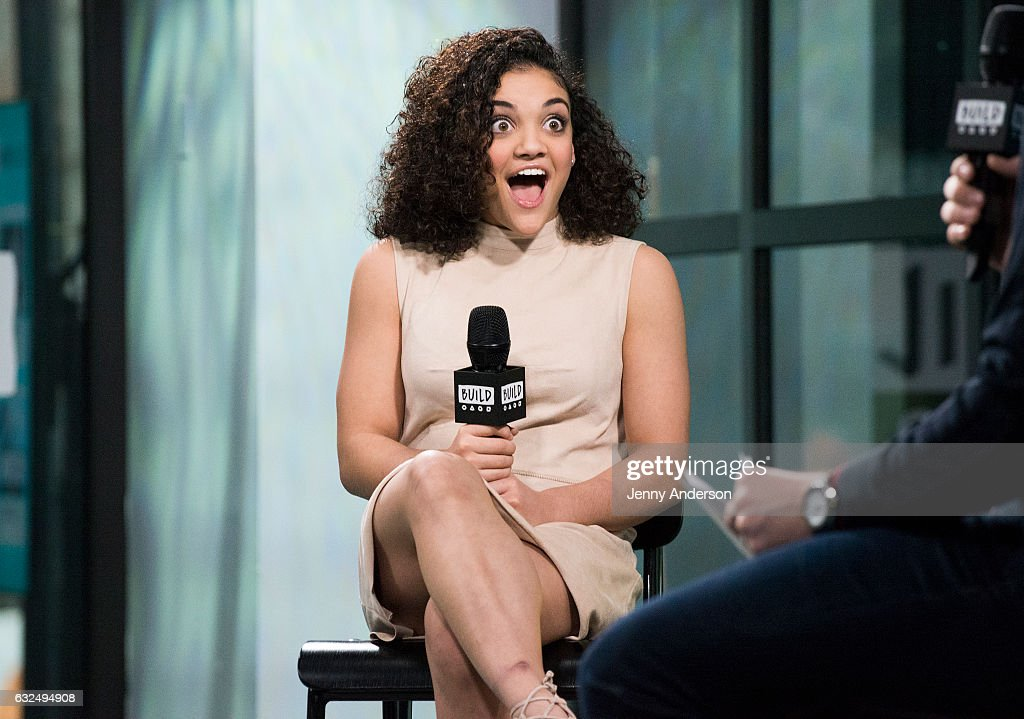 Laurie Hernandez attends AOL Build Series at Build Studio on January 23, 2017 in New York City.
