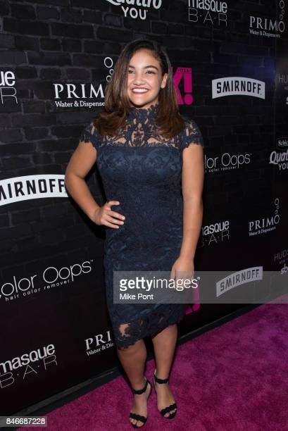 Laurie Hernandez attends OK Magazine's Fall Fashion Week 2017 Event at Hudson Hotel on September 13 2017 in New York City