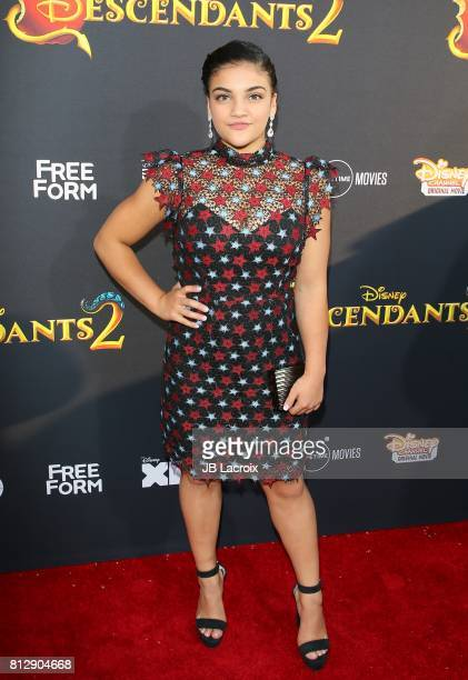 Laurie Hernandez attends the premiere of Disney Channel's 'Descendants 2' on July 11 2017 in Los Angeles California