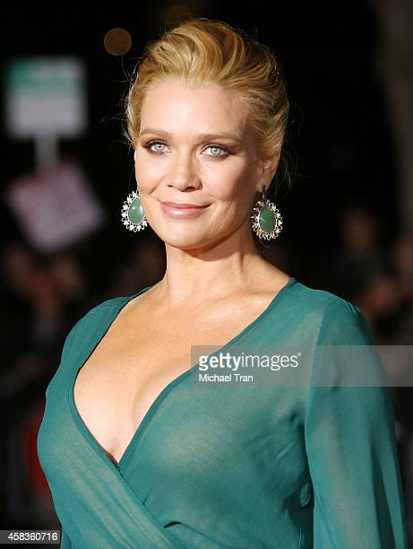 Laurie Holden arrives at the Los Angeles premiere of 'Dumb And Dumber To' held at Regency Village Theatre on November 3 2014 in Westwood California