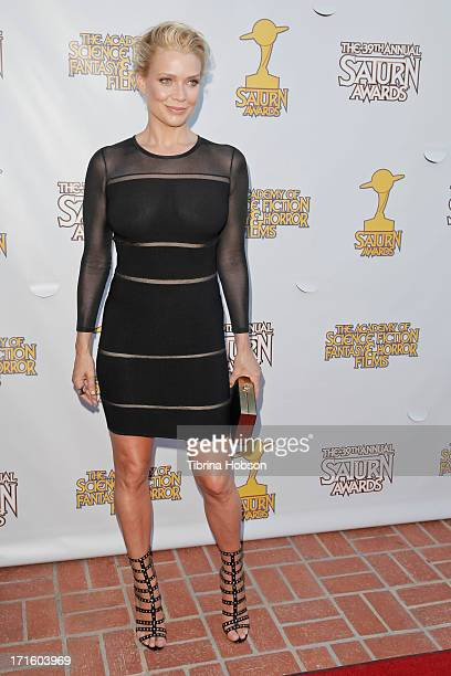 Laurie Holden attends the Academy of Science Fiction Fantasy Horror Films 2013 Saturn Awards at The Castaway on June 26 2013 in Burbank California