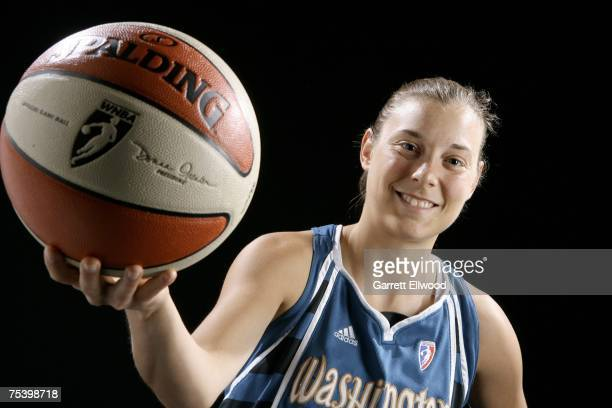 Laurie Koehn of the Washington Mystics poses for a portrait during the 2007 WNBA AllStar Media Availability on July 13 2007 at the Renaissance...