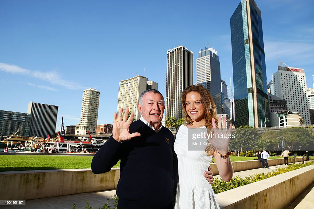 Laurie Lawrence and Ginia Rinehart pose following the Australian Olympic Committee Annual General Meeting at the Museum of Contemporary Art on May 10, 2014 in Sydney, Australia.