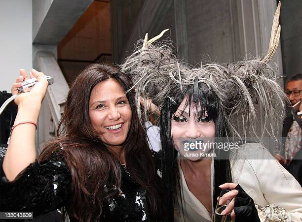 Laurie Lynn Stark and Japanese artist Vivienne Sato attend the Chrome Hearts Tokyo Flagship Renewal Event on April 24 2008 in Tokyo Japan