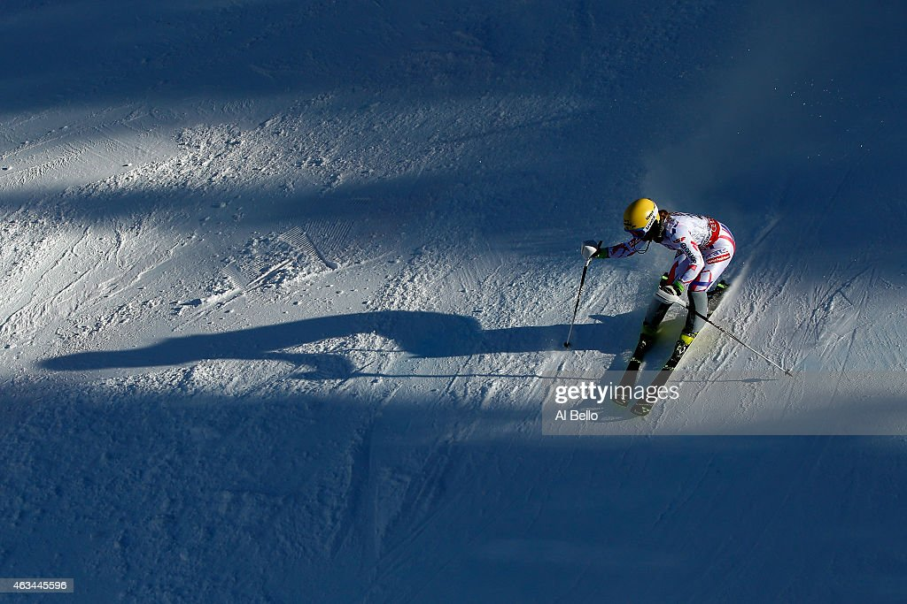 Laurie Mougel of France races during the Ladies' Slalom on the Golden Eagle racecourse on Day 13 of the 2015 FIS Alpine World Ski Championships on February 14, 2015 in Beaver Creek, Colorado.