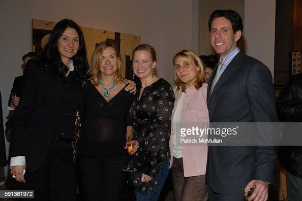 Laurie Sanderson Christina Wood Marie Samuels Karin Bravin and Jim Brodsky attend The Chamber Music Society of Lincoln Center Young Patrons Event...