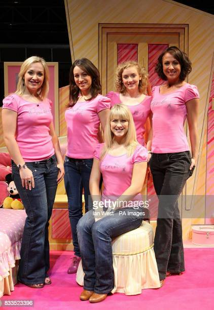 Laurie Scarth Alana Phillips Charlie Cameron Jayde Westaby and Susan McFadden from Grease the Musical are seen wearing limited edition MS tshirts...