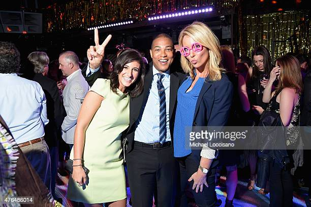 Laurie Segall Don Lemon and Brooke Baldwin attend the CNN The Seventies Launch Party at Marquee on June 9 2015 in New York City 25520_262JPG