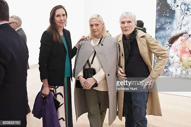 Laurie Simmons Gina Nanni and Glenn O'Brien attend as Brooklyn Museum celebrates Marilyn Minter and Iggy Pop at Opening Night Event at Brooklyn...