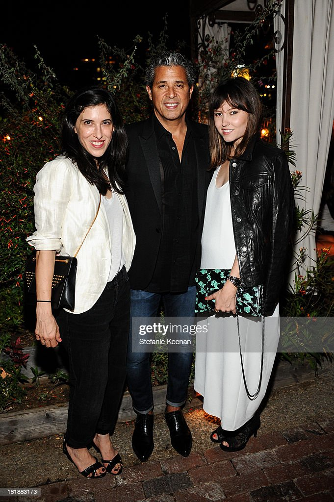 Laurie Trott, J Brand founder Jeff Rudes and Geri Hirsch attend an intimate dinner event hosted by Elle magazine and J Brand at Petit Ermitage Hotel on September 25, 2013 in West Hollywood, California.