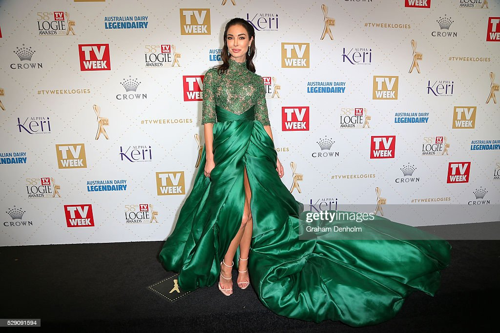 Laurina Fleure arrives at the 58th Annual Logie Awards at Crown Palladium on May 8, 2016 in Melbourne, Australia.