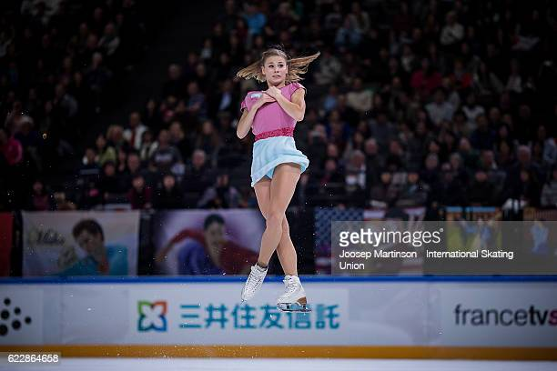 Laurine Lecavelier of France competes during Ladies Free Skating on day two of the Trophee de France ISU Grand Prix of Figure Skating at Accorhotels...