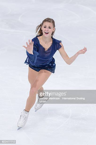 Laurine Lecavelier of France competes during Ladies Short Program on day one of the Trophee de France ISU Grand Prix of Figure Skating at Accorhotels...