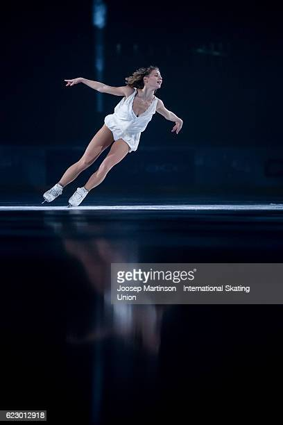 Laurine Lecavelier of France performs during Gala Exhibition on day three of the Trophee de France ISU Grand Prix of Figure Skating at Accorhotels...