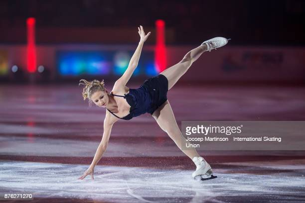 Laurine Lecavelier of France performs in the Gala Exhibition during day three of the ISU Grand Prix of Figure Skating at Polesud Ice Skating Rink on...