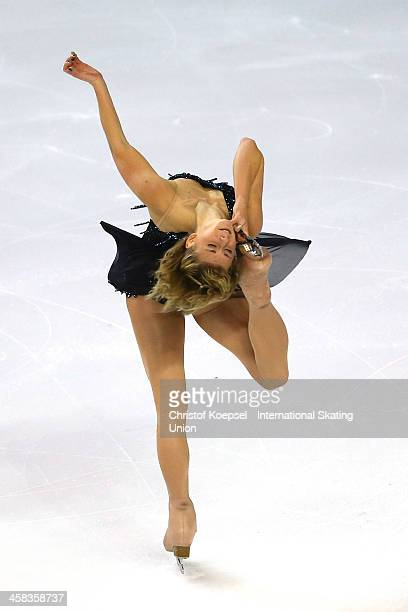 Laurine Lecavelier of Francea skates during the ladies short program of the ISU Grand Prix at Meriadeck Ice Rink on November 13 2015 in Bordeaux...