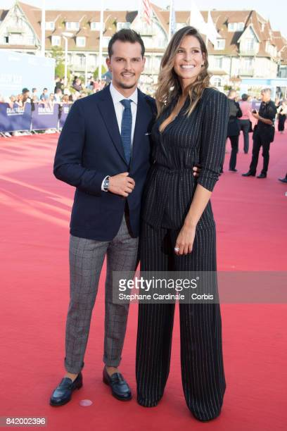 Laury Thilleman and chef Juan Arbelaez attends the Tribute to Robert Pattinson and 'Good Time' Premiere during the 43rd Deauville American Film...