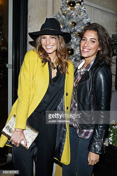 Laury Thilleman and Laurie Cholewa attend the Comite Du Faubourg Saint Honore Christmas Lighting cocktail on November 18 2014 in Paris France