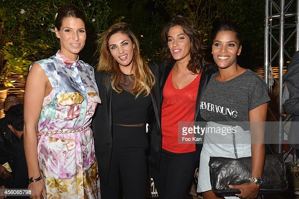 Laury Thilleman Ariane Brodier Laurie Cholewa and Audrey Chauveau attend the show 'The Art Of Illusion' at Palais De Tokyo on September 24 2014 in...