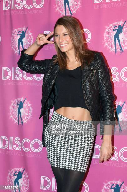 Laury Thilleman attends the 'Disco' photocall at the Folies Bergeres on October 10 2013 in Paris France