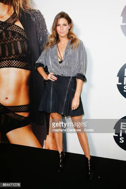 Laury Thilleman attends the Etam show as part of the Paris Fashion Week Womenswear Spring/Summer 2018 at on September 26 2017 in Paris France
